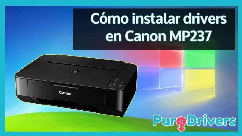 Cómo instalar drivers en Canon MP237