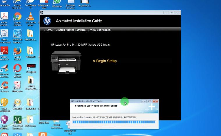 cómo instalar Driver LaserJet Pro M1136 en Impresora HP multifunción MFP en PC Windows 7