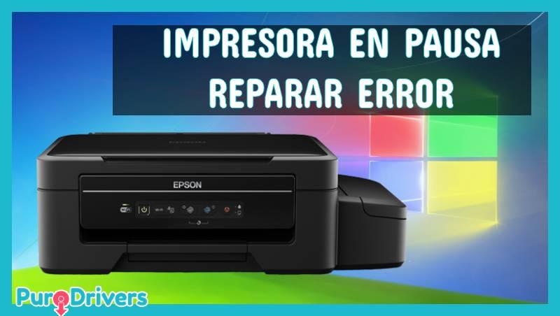 error de Impresora en Pausa epson l355
