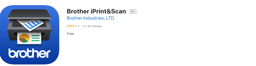 Brother iPrint Scan app