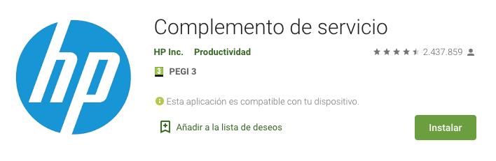 Complemento de servicio apk
