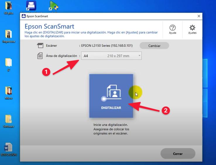 digitalizar con Epson L3150