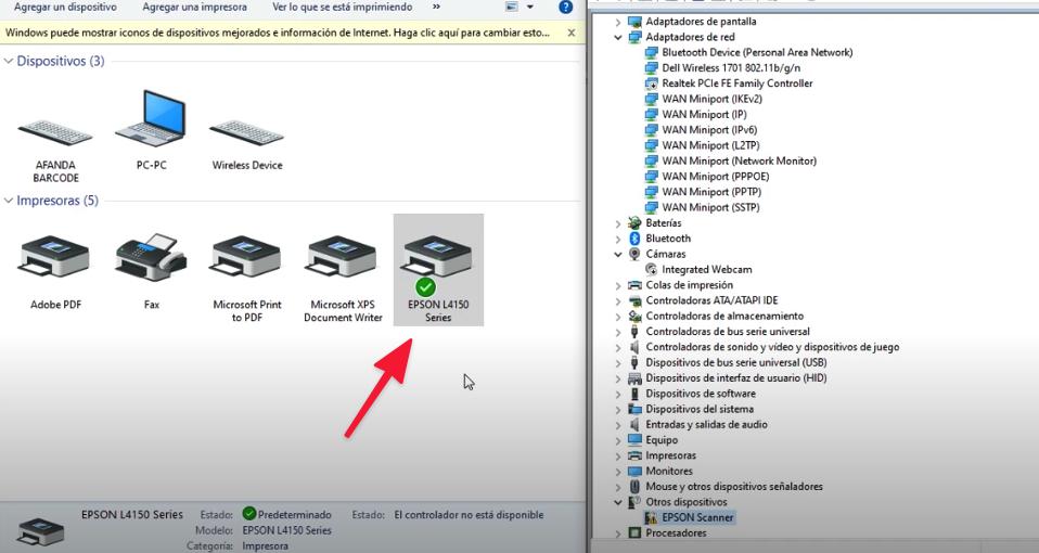 instalar escaner Epson L210